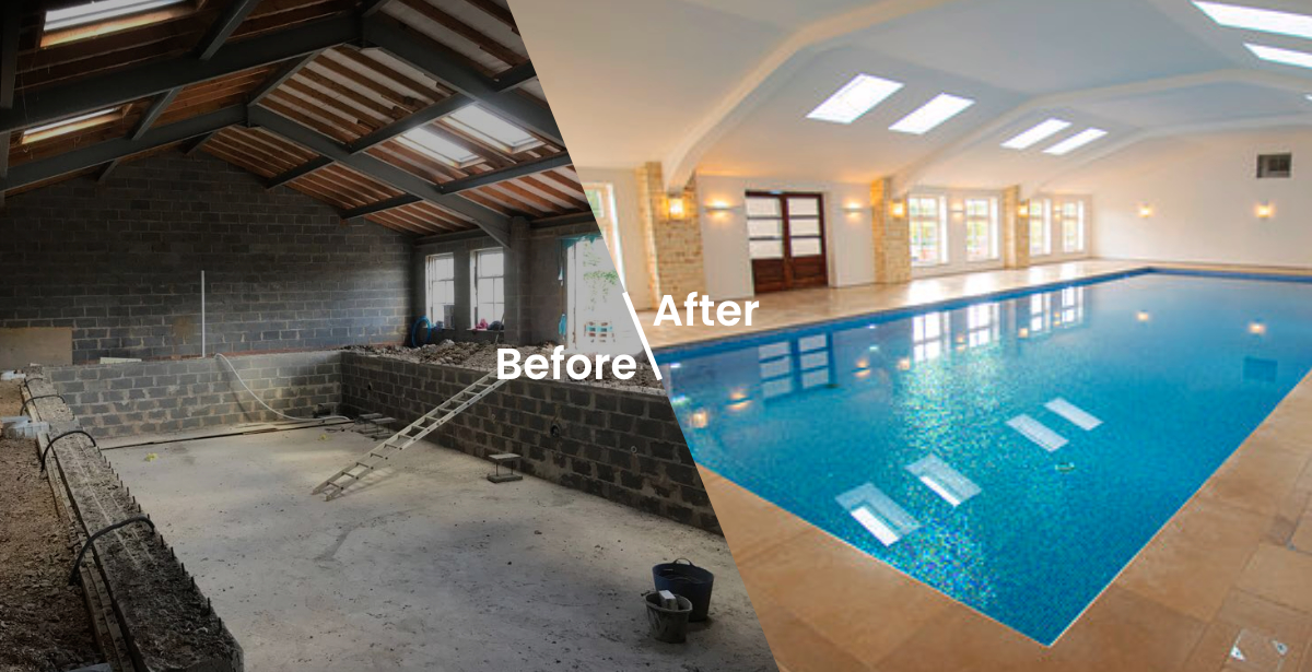 Before After Indoor Pool