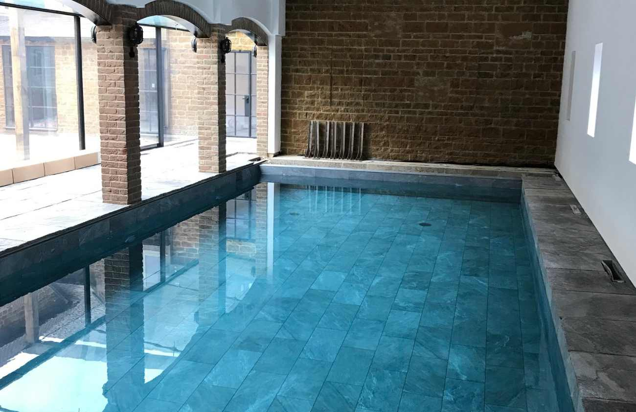 Indoor Slate Swimming Pool