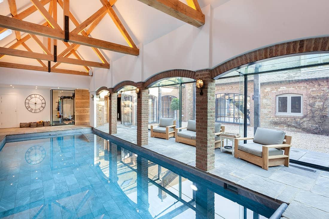 Indoor Slate Swimming Pool